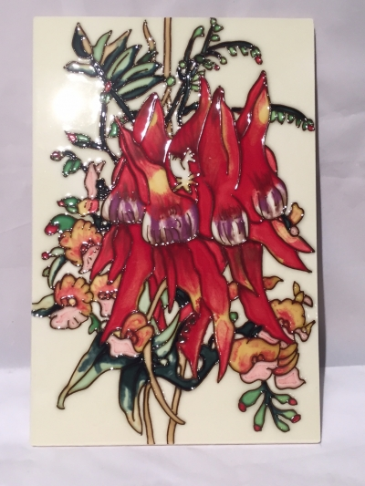 STURT PEA CERAMIC 300mm X 200mm WALL HANGING