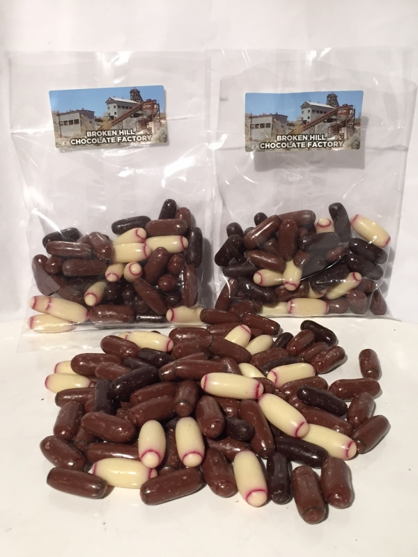 CHOCOLATE LICORICE BULLET MIX 130gm