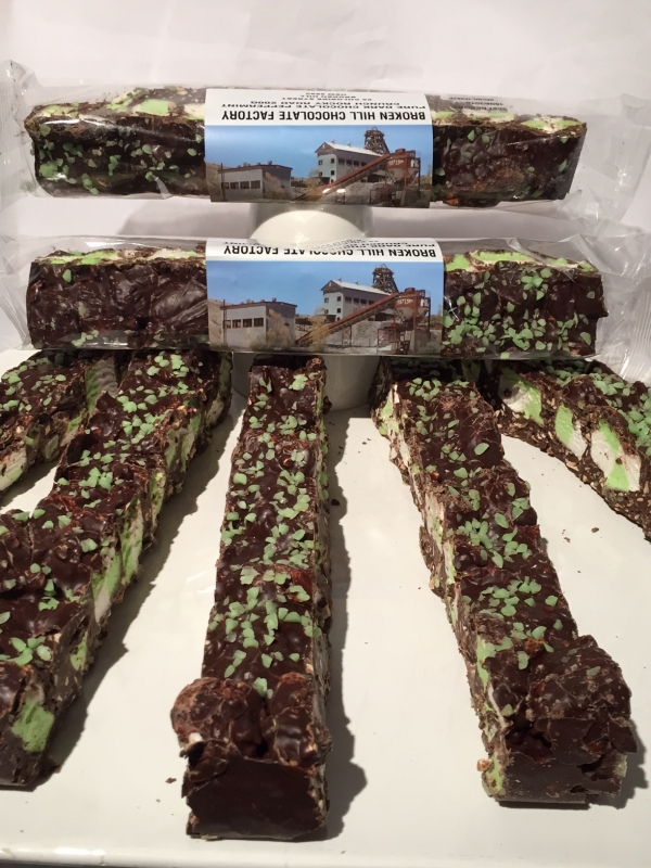 PURE DARK CHOCOLATE PEPPERMINT ROCKY ROAD 200gm