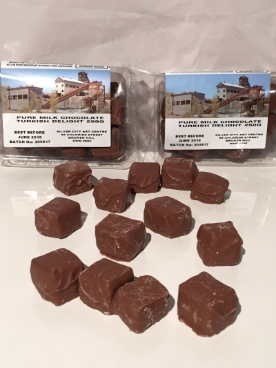 PURE MILK CHOCOLATE TURKISH DELIGHT 250gm
