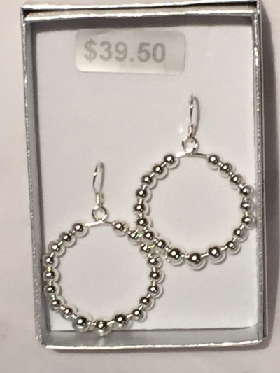 CIRCLE BALL EARRINGS