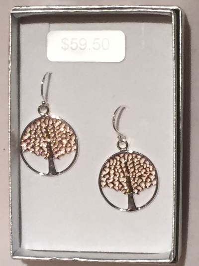 SILVER AND ROSE GOLD TREE OF LIFE