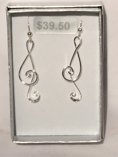 TREBLE CLEF EARRINGS 2