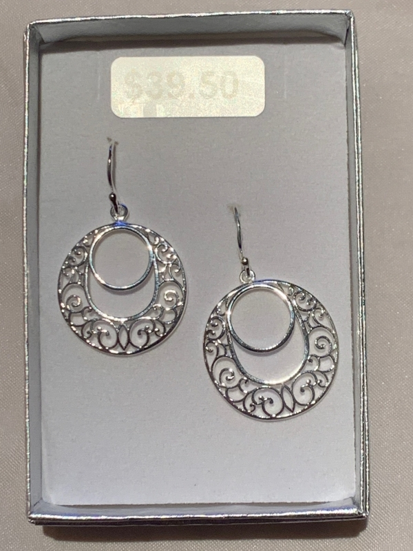 SILVER TWIST 16E EARRINGS