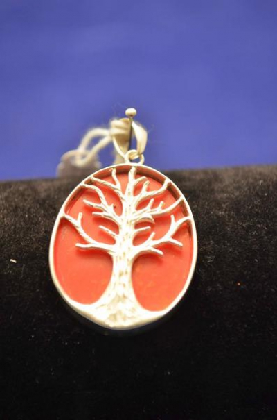 RED TREE OF LIFE PENDANT